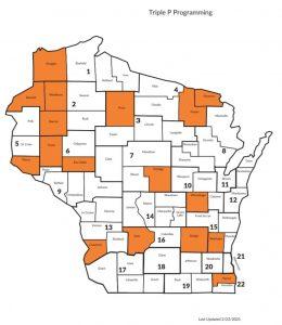 Triple P program map of Wisconsin